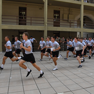 Cadets running during Meet your Cadre