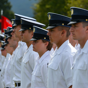 Cadets lined up at Oath Day