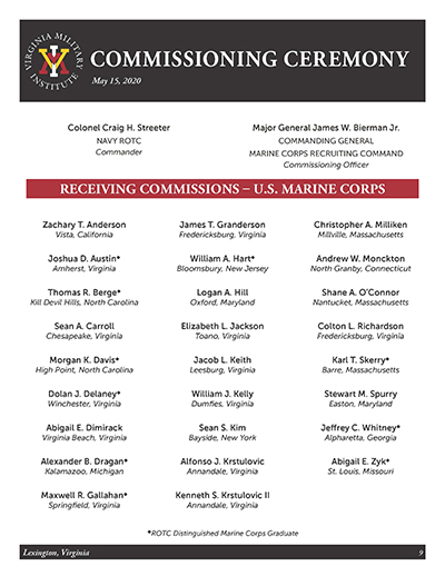 Clickable thumbnail of Marine Corps Commissioning List