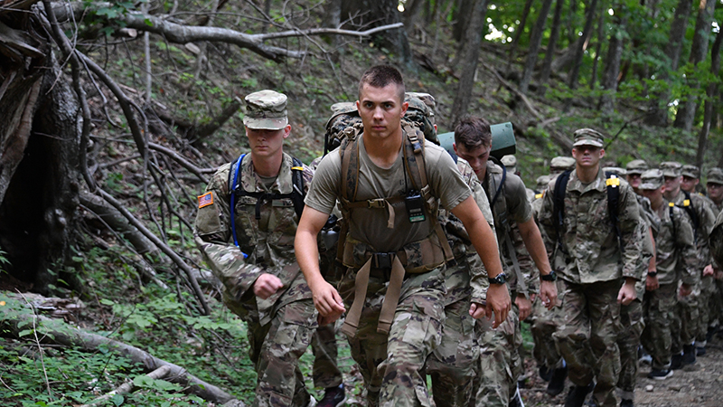 Cadets climbing House Mountain.