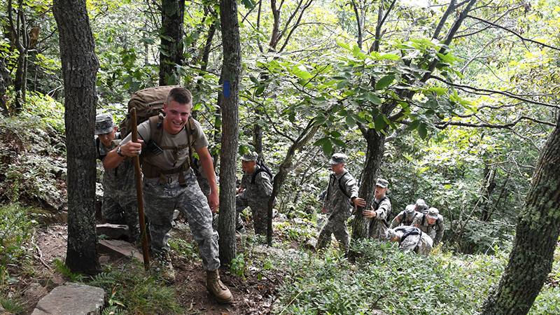 Cadets ascending House Mountain.