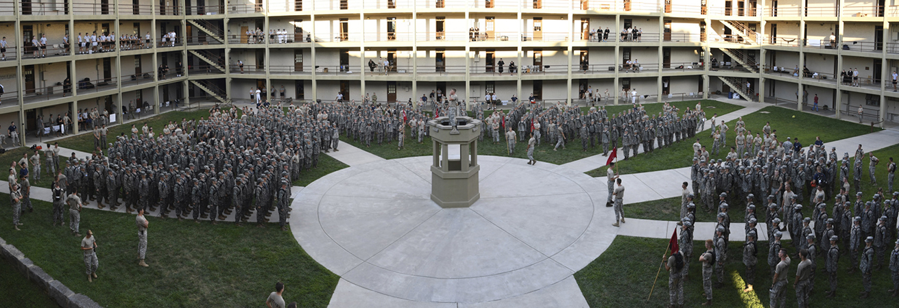 Panorama of barracks during Old Yell.