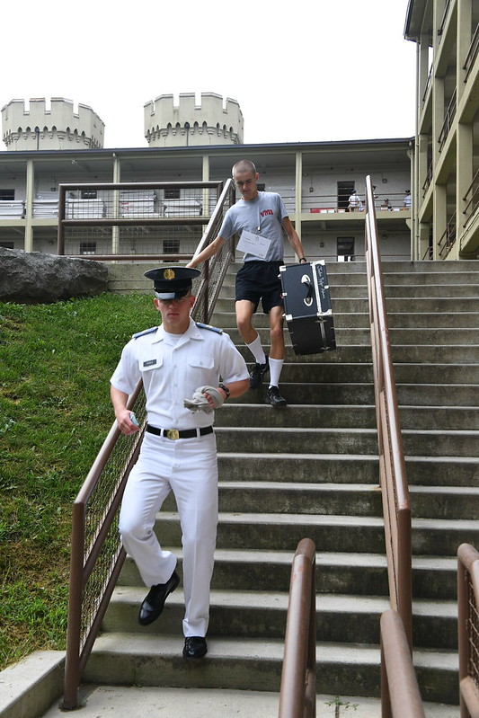 Move in day at the barracks.