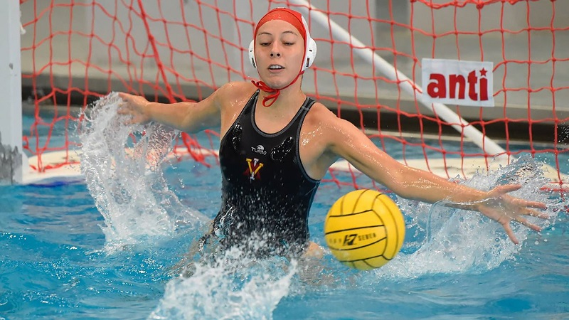 Senior Isabel French playing water polo. Photo from VMI Athletics