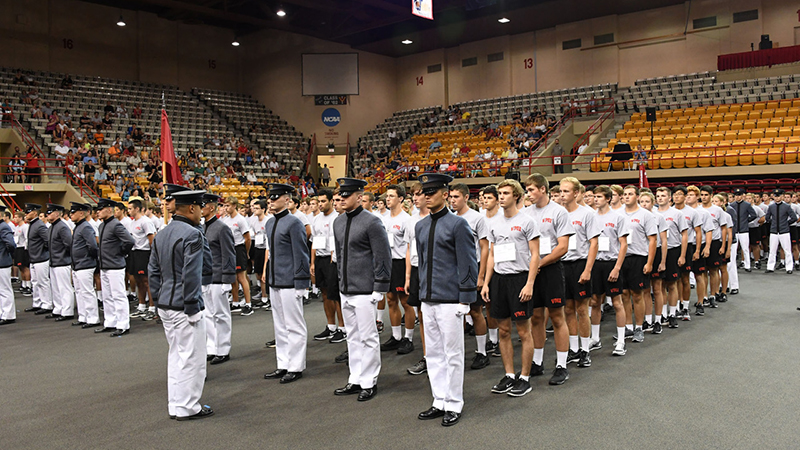 Cadets at matriculation welcome event.